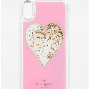 kate spade heart liquid glitter phone case- xsmax